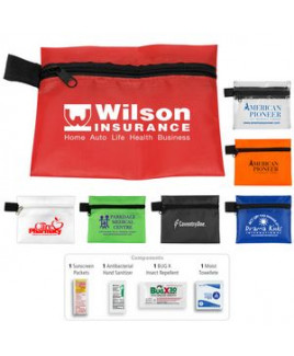 """""""Stay Safe Kit #1"""" 4 Piece Insect Repellent Kit in Zipper Pouch"""