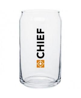 16oz Plain Soda Can Glass (Clear)