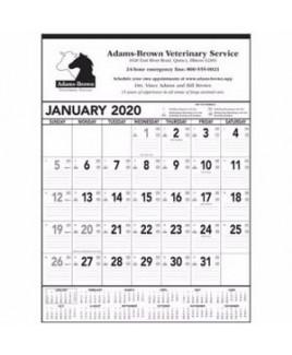 Triumph® Black & White Contractor Memo Calendar