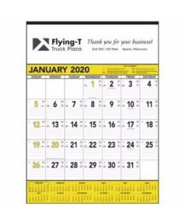 Triumph® Yellow & Black Contractor Memo Calendar