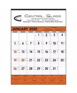 Triumph® Orange & Black Contractor Memo Calendar