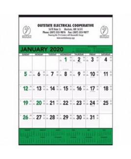 Triumph® Green & Black Contractor Memo Calendar