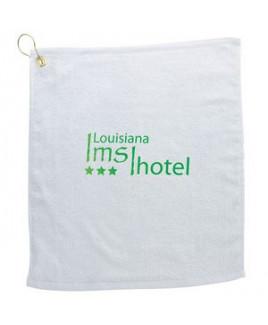 White Golf Towel w / Metal Grommet