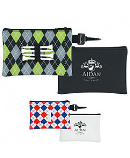 Good Value® Pattern Golf Tee Pouch