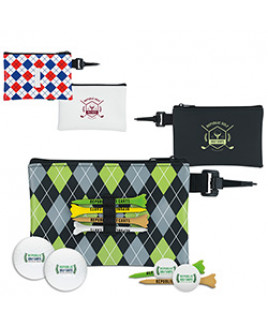 Wilson® Pattern Golf Pouch Event Golf Kit w/Ultra 500 Golf Balls