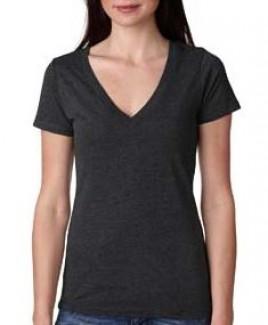 Next Level Ladies' Triblend Deep V-Shirt
