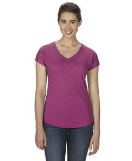ANVIL® Ladies' Triblend V Neck T Shirt