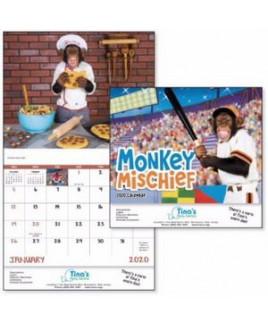 Good Value® Monkey Mischief Stapled Calendar