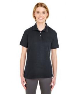 UltraClub® Ladies' Platinum Honeycomb Piqué Polo Shirt