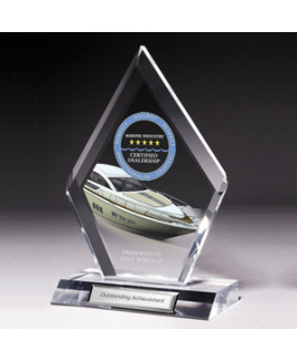 Large Multi-Faceted Acrylic Award - Screen Print