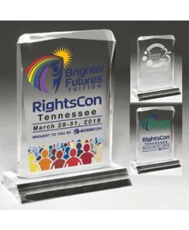 Clear Acrylic Jewel Laser Engraved Award