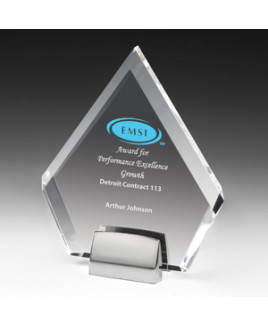 Diamond Acrylic Award w/Chrome Base - 4 Color Process