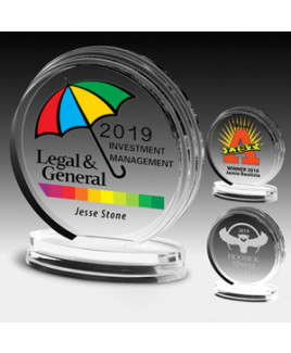 "Round Legend Award (5 1/4""x6""x3/4"") - Screen Print"