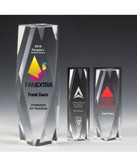 """Flat Top Obelisk Award (2""""x6""""x2"""") - Laser Engraved"""