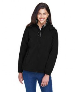 North End® Ladies' Insulated Soft Shell Jacket w/Detachable Hood