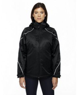 North End® Ladies' Angle 3-in-1 Jacket w/Bonded Fleece Liner