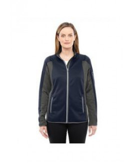 North End® Ladies' Motion Interactive Colorblock Performance Fleece Jacket