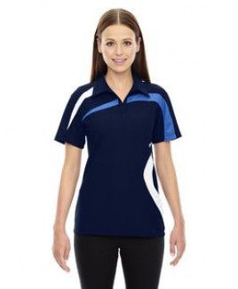 North End® Ladies' Impact Performance Polyester Pique Colorblock Polo Shirt