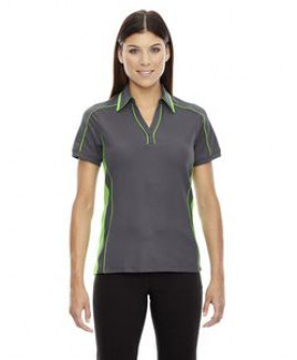 NORTH END SPORT RED Ladies' Sonic Performance Polyester Piqué Polo