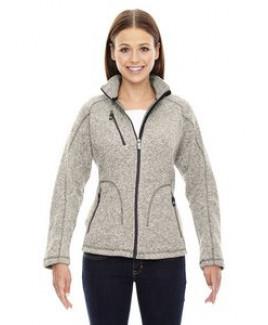 North End® Ladies' Peak Sweater Fleece Jacket