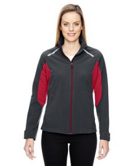North End® Ladies' Excursion Soft Shell Jacket w/Laser Stitch Accent