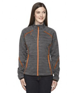 North End® Ladies' Flux Mélange Bonded Fleece Jacket