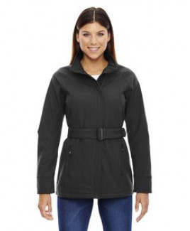 North End Sport® Blue Ladies' Skyscape Three-Layer Textured Two-Tone Soft Shell Jacket