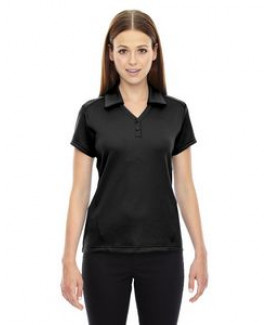 North End® Ladies' Exhilarate Coffee Charcoal Performance Polo Shirt w/Back Pocket