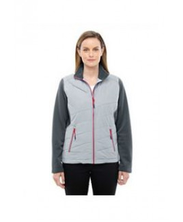 NORTH END SPORT RED Ladies' Quantum Interactive Hybrid Insulated Jacket
