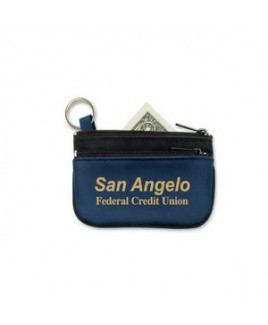 Double Pocket Coin & Key Pouch