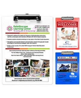 """McQuary FC"" Letter Size Clipboard w/PhotoImage® Full Color Imprint & Metal Spring Clip"