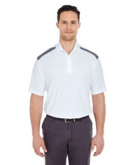 ULTRACLUB Adult Cool & Dry Two-Tone Mesh Piqué Polo