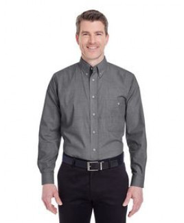 UltraClub® Men's Wrinkle-Resistant End-On-End Shirt
