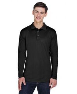 UltraClub® Adult Cool & Dry Long Sleeve Sport Polo Shirt