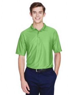 UltraClub® Men's Cool & Dry Elite Tonal Stripe Performance Polo Shirt
