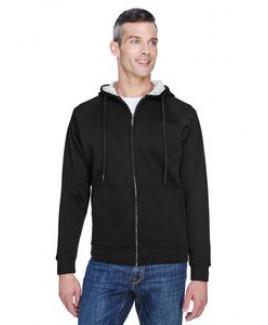 ULTRACLUB Adult Rugged Wear Thermal-Lined Full-Zip HoodedFleece