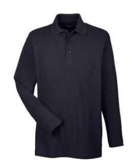 ULTRACLUB Adult Long-Sleeve Whisper Piqué Polo