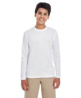 UltraClub® Youth Cool & Dry Performance Long-Sleeve Top