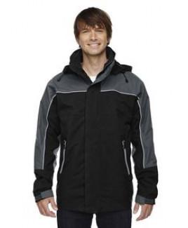 North End® Men's 3-in-1 Nylon Supplex Seam-Sealed Mid-Length Jacket