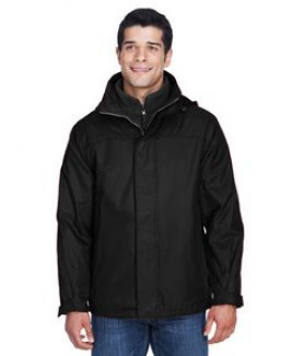 North End® Men's 3-in-1 Nylon Oxford Jacket
