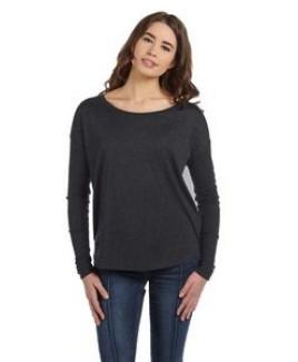 BELLA+CANVAS Ladies' Flowy Long-Sleeve T-Shirt w/2x1 Sleeves