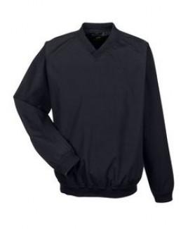 ULTRACLUB Adult Long-Sleeve Microfiber Crossover V-Neck Wind Shirt