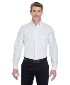 ULTRACLUB Men's Classic Wrinkle-Resistant Long-Sleeve Oxford