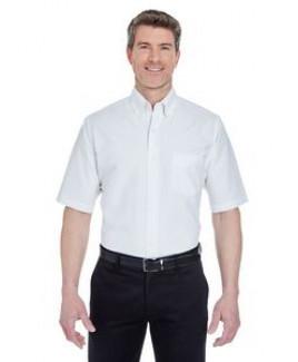 UltraClub® Men's Classic Wrinkle-Resistant Short Sleeve Oxford Dress Shirt