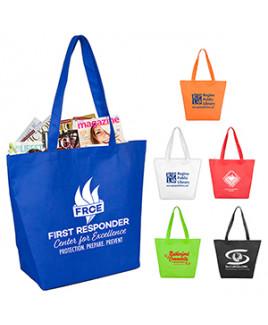 """Camarillo"" Gusseted Shopping & Tote Bag w/ Hook & Loop Fastener Closure"