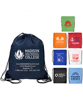 """""""Ventoux"""" 210D Polyester Drawstring Cinch Pack Backpack (Overseas)"""