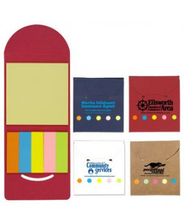 """""""Rocklin"""" Recycled Sticky Notes & Flag Booklet"""
