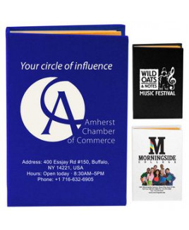 """Atherton"" Compact Sticky Notes & Flags Notepad Notebook (Screen Print)"