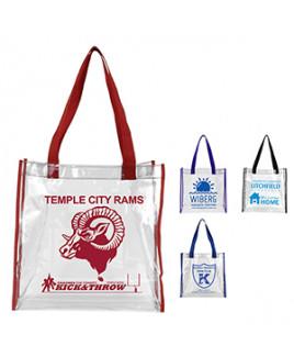 """Matterhorn"" Clear Vinyl Stadium Compliant Tote Bag (Overseas)"
