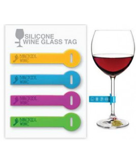 Silicone Wine Glass Tag - Set of 4 (Debossed)